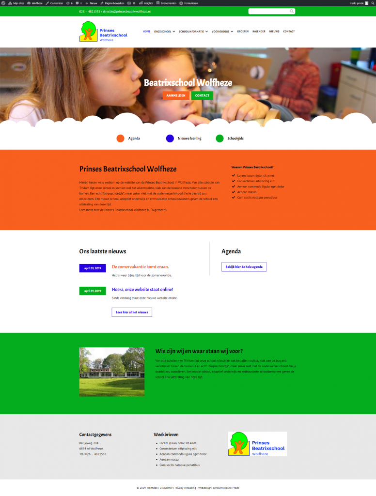 Hoera, onze website staat online!